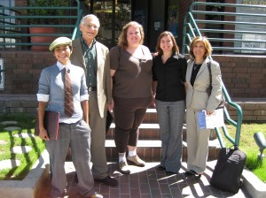 Our Berman delegation: Frances Motiwalla, Rabbi Jerrold Goldstein, Sharon Morgan, me, and Dr. Farideh Kioumehr
