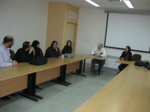 Speaking with American Studies students at Tehran University