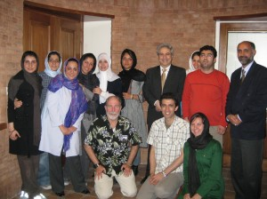 with activists from Miles for Peace in their office in Tehran