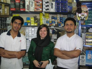 Payun, me and Mehran at the store.