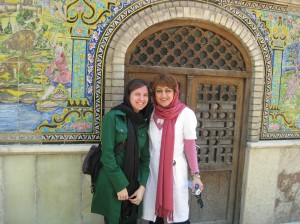 with our tour guide Samira at Golestan Palace
