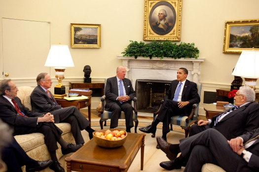 Obama meets with the four statesmen on nonproliferation