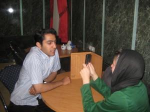 Recording Ashkan's message of peace