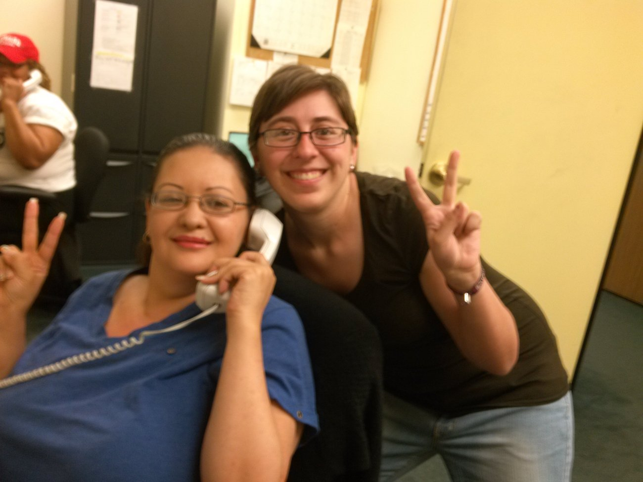 Selina and Corrie are our record-setters, connecting more people with Sen. Durbin's office than any other staffers!
