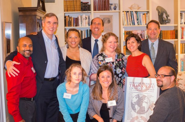 Peace Action West staff and board with Sen. Jeff Merkley in San Francisco